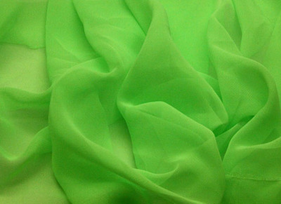 [당일발송]GEORGETTE FLUORESCENT GREEN