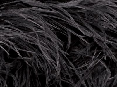 OSTRICH FEATHER FRINGE BLACK