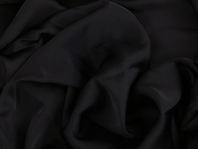 SATIN GEORGETTE BLACK