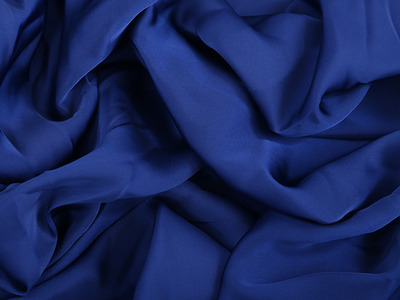 SATIN GEORGETTE COBALT