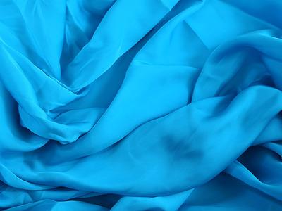 SATIN GEORGETTE TURQUOISE