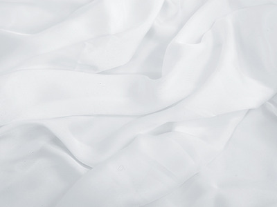 SATIN GEORGETTE WHITE