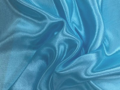 SATIN CHIFFON ICE BLUE
