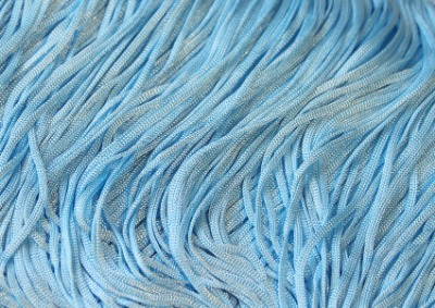 TACTEL FRINGE 30CM ICE BLUE